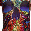 Men's  Summer Short Sleeve Digital Print 3D Skull T-Shirt - MULTI-B