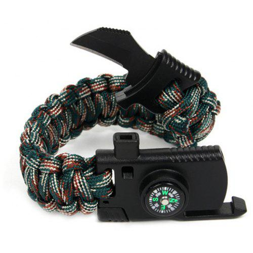 Braided Men Survival Bracelet Outdoor Camping Rescue Emergency Rope