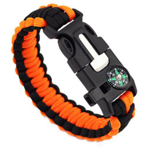 The Cheapest Price Military Self-rescue Survival Wristband Rope Bracelet Bangle With Stainless U-shape Buckle Outdoor Sports Camping Hiking Tools High Quality Goods Outdoor Tools Sports & Entertainment