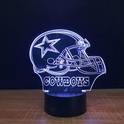 Cowboys Touch Colors Changing LED Night Light