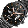 BOSCK Male Stainless Multi-Functional Noctilucent Waterproof Quartz Watch - MULTI-A