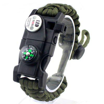 LED Light Multifunctional Survival Bracelet Outdoor Camping