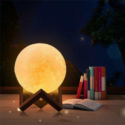 Lámpara 3D LED Moon con cargador USB Touch Control