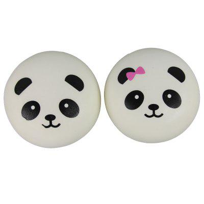 Two Pack of Jumbo Squishy Panda Steamed Bread Relieve Stress Toys