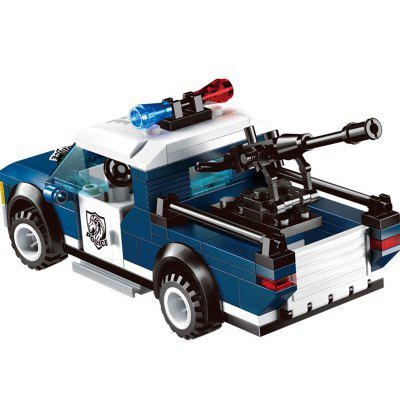 Kid's Blocks Police Theme Creative Design Construction Toy 6pcs police swat power city minifigures mini police jeep car armored truck building blocks policeman wapons toy figure
