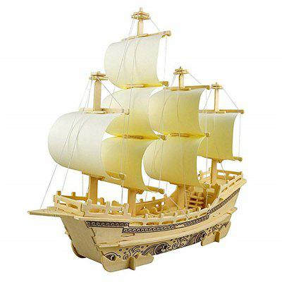 3D houten puzzel Toy Mini Ship Boat Model