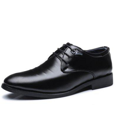 Men's Fashion Pointed Toe Leather Business Shoes