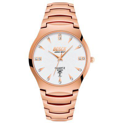 BOSCK Couples Leisure Stainless Steel Waterproof Quartz Watch