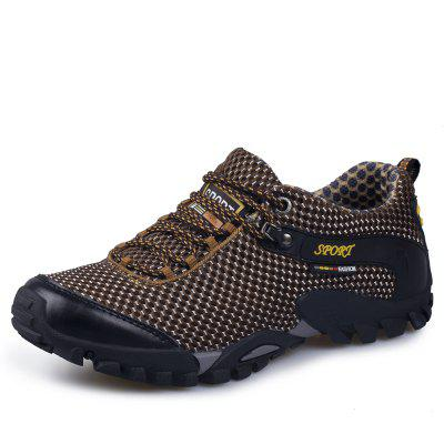 ZEACAVA Casual Outdoor Hiking Breathable Mesh Shoes 2017 wholesale hot breathable mesh man casual shoes flats drive casual shoes men shoes zapatillas deportivas hombre mujer