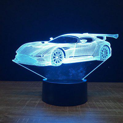 Racing Car Shape Touch Colors Changing LED Night Light