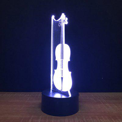Violin Touch Colors Changing LED Night Light