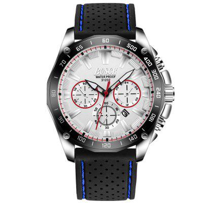 BOSCK Men Casual Sport Noctilucent Waterproof Quartz Watch 2017 mens business watches vinoce top brand luxury waterproof watch roman numerals man steel sport quartz watch men clock male