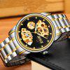 BOSCK Men Hollow-Out Gold-Plated Waterproof Mechanical Watches - BLACK
