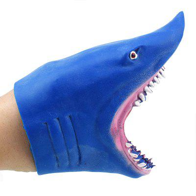 Blue Simulation Shark Glove Doll Storytelling Toy lovely big simulation fox toy polyethylene
