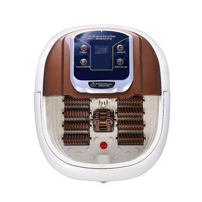 Home Electric Massage Heated Foot Bath Tub BROWN