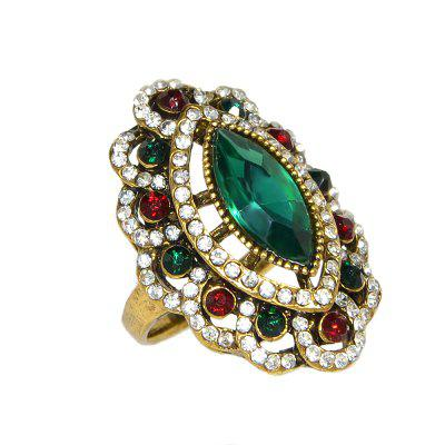 Vintage Style Luxury Rhinestone and Stone Ring for Women