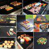 2PCS PTFE BBQ Grill Mat Barbecue Liner Reusable Teflon  Sheet 40 30cm Cooking - BLACK