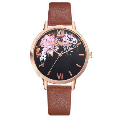 Fanteeda FD149 Fashion PU Leather Men and Women Quartz Watch