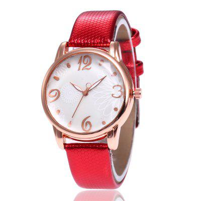 V5 Women Fashion Casual Style Fashionable Personality Pattern Strap Quartz Watch