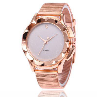 V5 Women Simple Diamond-Studded Star-Studded Quartz Watch
