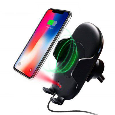 Automatic Infrared Sensor Car Qi Wireless Charger Air Vent Phone Mount Holder 10w car vent qi wireless quick charger stand for iphone android phone
