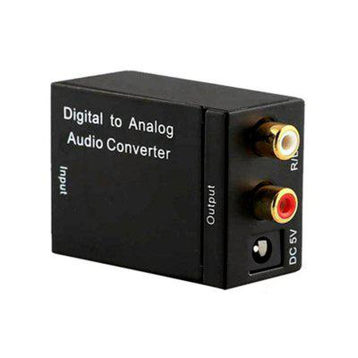 TV Optical Digital SPDIF/Coaxial to RCA L/R Headphone Analog Audio Converter
