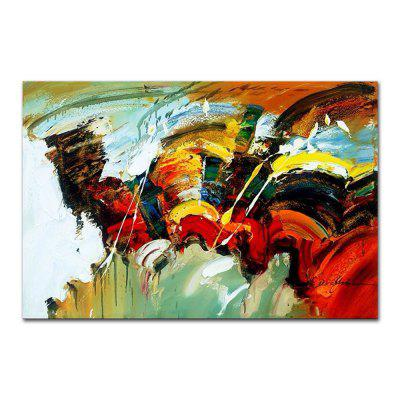 STYLEDECOR Modern Hand Painted Abstract Color Canvas Oil Painting Wall Art iarts hand painted abstract conjoined palnt oil painting red 80 x 40cm