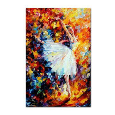 STYLEDECOR Modern Hand Painted Knife Painting Ballet Dancer Abstract Canvas iarts hand painted abstract conjoined palnt oil painting red 80 x 40cm