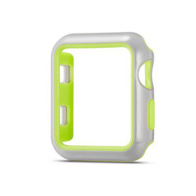 Fashion Dual Colors Soft Silicone Case Bumper for Apple Watch Series
