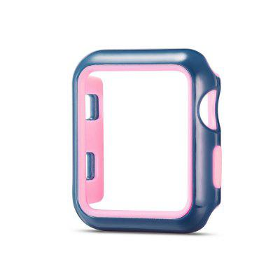 Fashion Dual Colors Soft Silicone Case Bumper for Apple Watch Series apple watch band poetic [sport fit series] protective silicone tpu case for apple watch