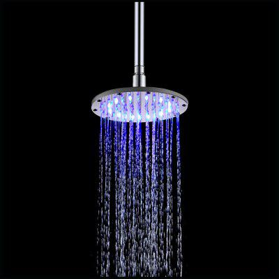 200MM Round Temperature(Blue-Pink-Red) Color Changing Bathroom LED SS304 Shower led color changing waterfall chrome bathroom faucet rgb led emitter