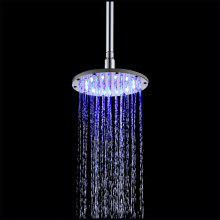 200MM Round Temperature(Blue-Pink-Red) Color Changing Bathroom LED SS304 Shower
