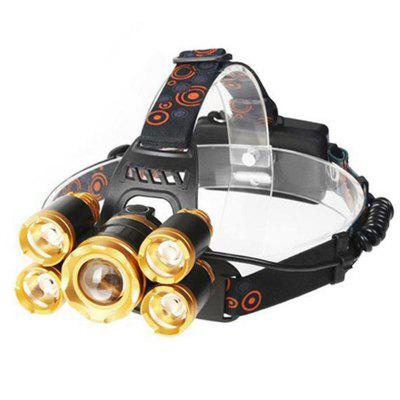 5 LED Head Lamp Camp Hike Emergency Light Fishing Outdoor Equipment