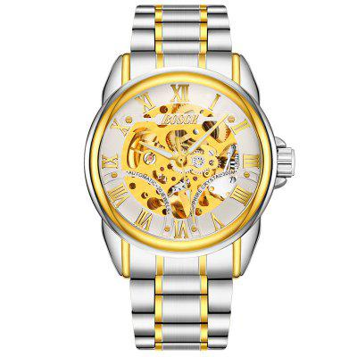 BOSCK Men Fashion Luxury Automatic Skeleton Mechanical Watch langley new modern dragon watches men automatic mechanical watch male skeleton golden wristwatch luxury brand stainless steel
