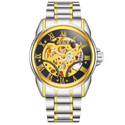 BOSCK Men Fashion Luxury Automatic Skeleton Mechanical Watch