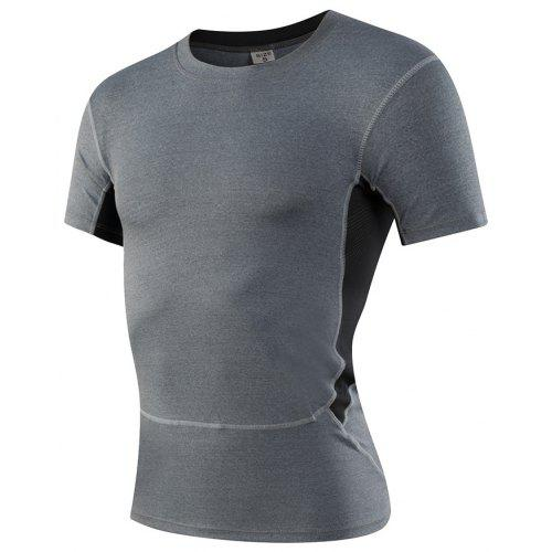2eabe8a5e3 Men's Cool Dry Baselayer Running Training Top Short Sleeves Compression T- Shirt - $42.36 Free Shipping|Gearbest.com