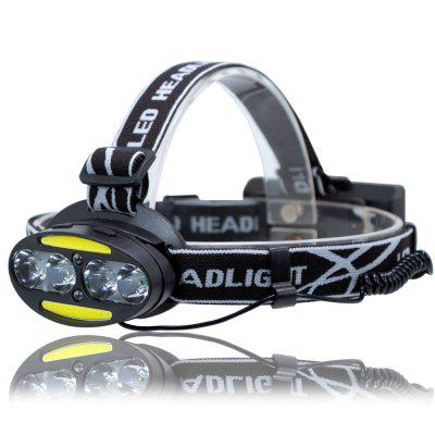 UltraFire UF-2504A T6 + COB + LED 8 Light 3000LM 7 Speed ​​Head Light Strong Head