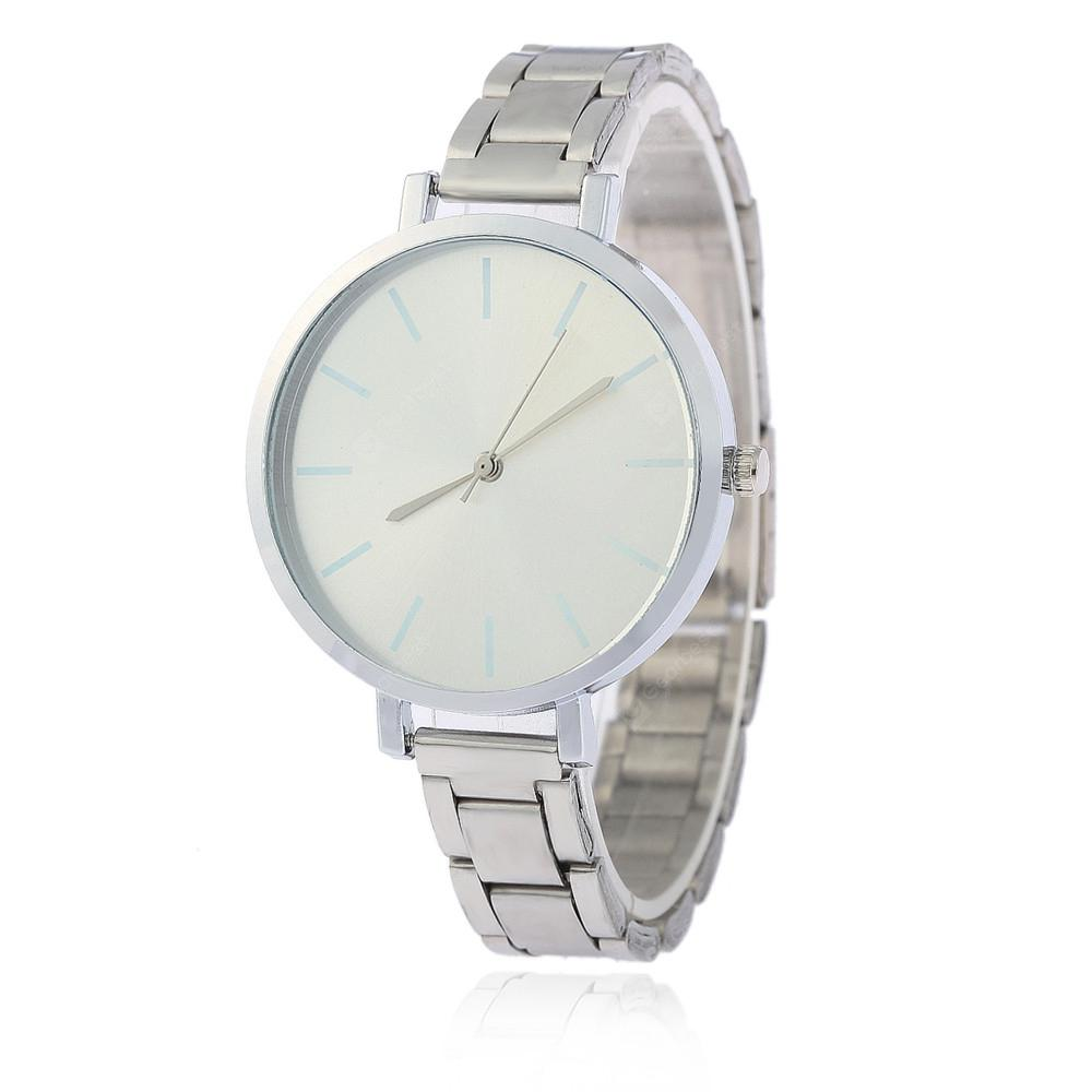 V5 Women Simple Roman Scale Colour Fine Steel Band Quartz Watch