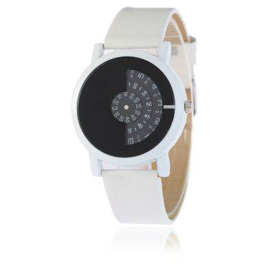 V5 Women Personal Digital Turntable Pointer Belt Quartz Watch