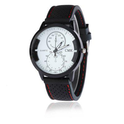 V5 Men Creative 8 - Palavra Moda Silicone Strap Quartz Watch