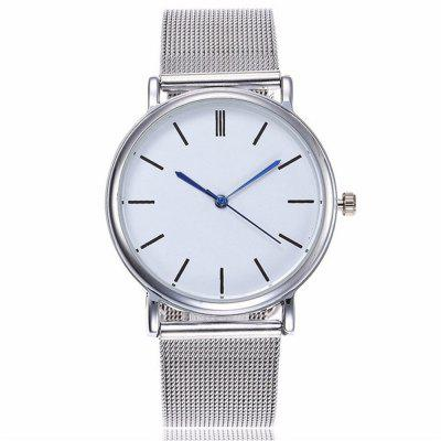 V5 Women Fashion Mesh Stainless Steel Quartz Watch 1 roll stainless steel woven wire cloth screen filter 120 mesh 125 micron 30x90cm with corrosion resistance