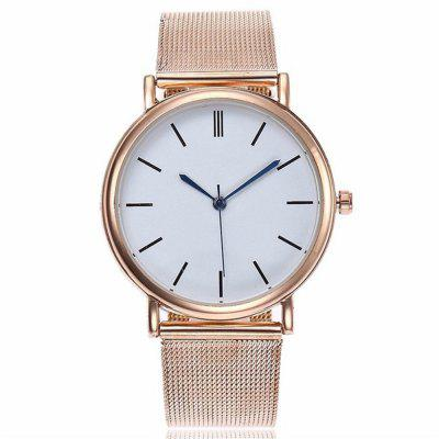 V5 Women Fashion Mesh Stainless Steel Quarzo Watch
