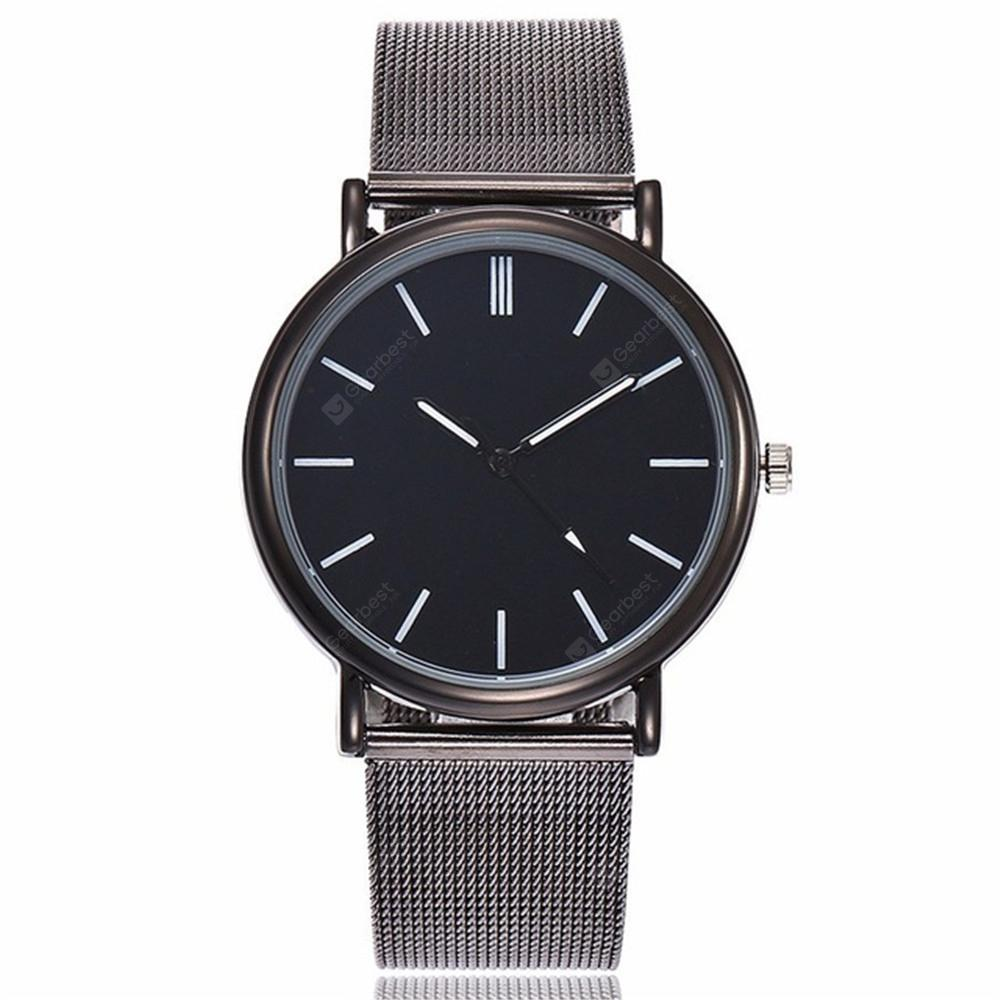 V5 Women Fashion Mesh Stainless Steel Quartz Watch