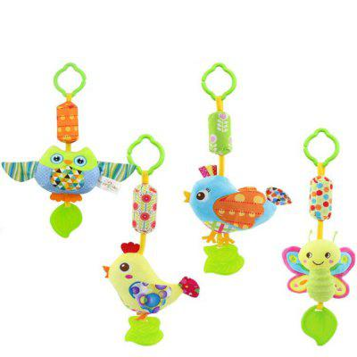 Baby Rattle with Teether Infant Newborn Plush Doll Stroller Bed Bell Toys 4pcs nk one set doll accessories baby toys new printing closet wardrobe for barbie doll girls toy princess bedroom furniture