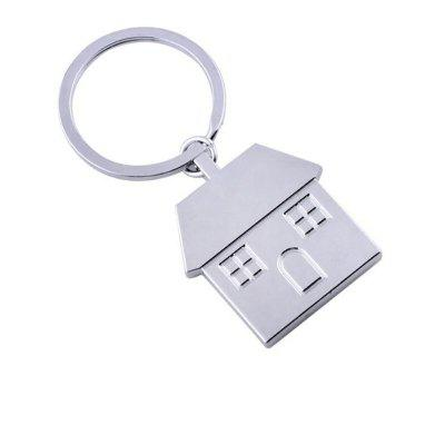 Personalized Metal Keychain Creative House Pendant
