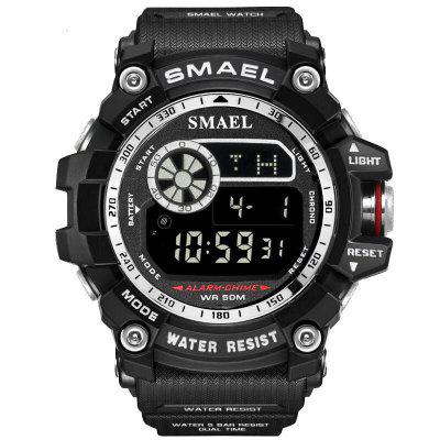 SMAEL Heren Militaire Army LED Digital Big Dial Sports Outdoor Horloges