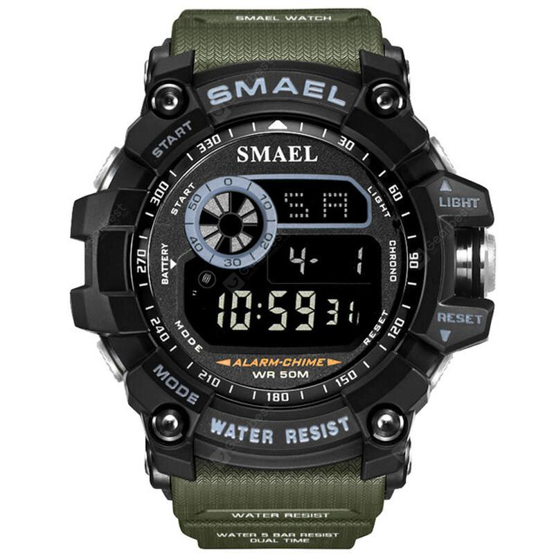 SMAEL Men Military Army LED Digital Big Dial Sports