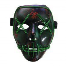 37 off halloween mask led glow scary wire light up grin festival parties
