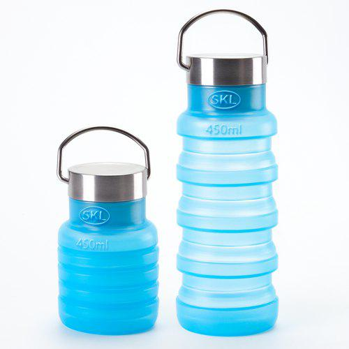 SKL Silicone Heat-Resistant Sports Bottle Outdoor Portable Travel Folding Cup