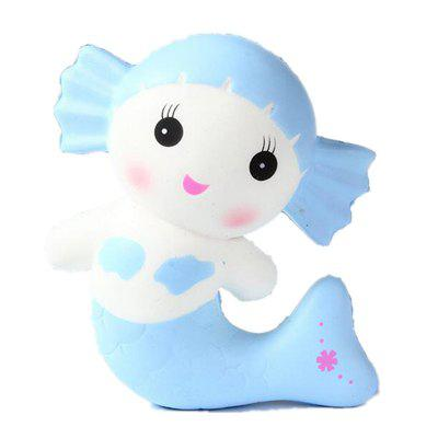 Creative Jumbo Squishy Mermaid Toy Scented Bread Cake Super Soft Slow Rising creative simulation plush soft fox naruto toy polyethylene